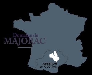 Carte domaine de Majorac